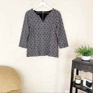 Talbots Polka Dot and Plaid Gingham Top Size LP